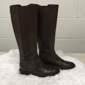 Tory Burch Christy Riding Brown Boots 6 1/2